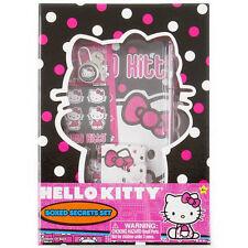 Hello Kitty Polka Dot Boxed Secrets Journal Set Lock & Key Stickers Pen New