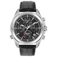 Bulova Precisionist Men's 96B259 Quartz Chronograph Leather Strap 44.5mm Watch