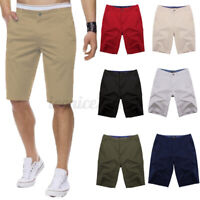 INCERUN Mens Cotton Linen Shorts Chino Cargo Casual Loose Trousers Bottoms Pants