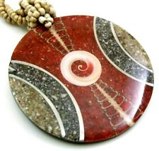 Red Coral Cone Shell Mother of Pearl Pendant Beads Necklace Women Jewelry FA251