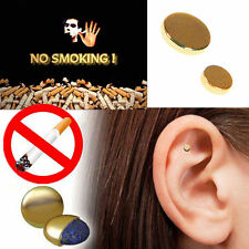 2pcs Magnetic Stop Quit Smoke Cigarettes Ear Acupressure Magnet Anti-smoking