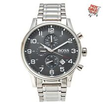 Hugo Boss 1513181 Black Aeroliner Grey Dial Steel Bracelet Chronograph Watch