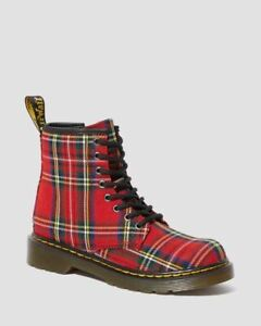 Dr Martens 1460 J/Y Red Tartan Boots with Laces and Zip 25189615