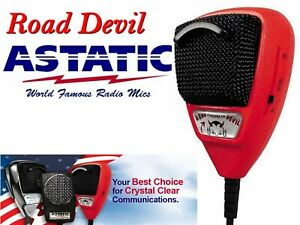 ASTATIC ROAD DEVIL MICROFONO PREAMPLIFICATO CON NOISE CANCELLING
