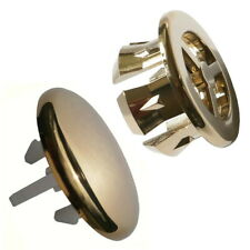2 *Superb Quality* Bathroom Sink Overflow Covers Gold* T+M To Match Gold Taps