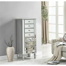 TALL MIRRORED LIVING DINING ROOM BEDROOM BATHROOM CABINET CHEST DRESSER 7 DRAWER