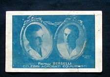 1906 cartolina Fratelli BERSELLI  Modena Circo Acrobati Equilibristi