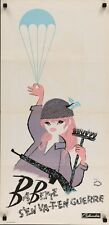 BABETTE S'EN VA T'EN GUERRE GOES TO WAR French movie poster BRIGITTE BARDOT