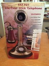 Die Cast Stick Telephone Push Button Tone Collector Series Redial & Flash