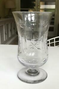 VINTAGE ANTIQUE EDWARDIAN GLASS CELERY VASE 7.25IN HEIGHT