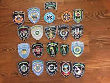 POLICE PATCH UKRAINE - units (lot 20 patches) !!!