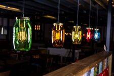 More details for mason jar light colourful jam jar pendant ceiling lights four colours