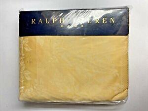 NEW Ralph Lauren CALIFORNIA KING Deep Fitted Sheet FAIRCHILD WHEAT FLORAL Yellow
