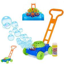Kids Lawn Bubble Mower Bubbles Machine Blower Garden Party Summer Fun Toy Gift