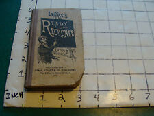 vintage book: LEARY'S IMPROVED READY RECKONER FORM BOOK & WAGES CALCULATOR, 1912