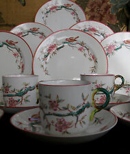 JAPANESE CHERRY BLOSSOM-ENGLAND- c.1880's- CUP & SAUCER(S)- RING HANDLE- XLNT!!!