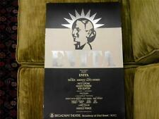 EVITA Broadway Theatre Card Stock Original Foil Poster,13x21 inch,VERY RARE Aura