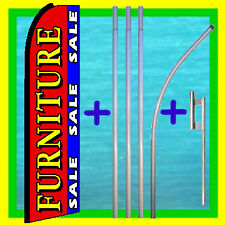 FURNITURE SALE 15' TALL SWOOPER FLAG & POLE AD KIT Feather Bow Flutter Banner