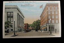 STEVENS POINT WISCONSIN STRONGS AVE. POSTCARD, ABOUT 1920, OLD CARS, NICE CARD !