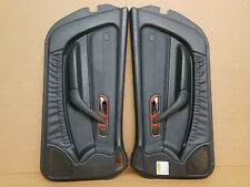 1997-2000 R170 MERCEDES SLK230 LH RH DOOR PANELS PAIR SET ASSEMBLY BLACK OEM