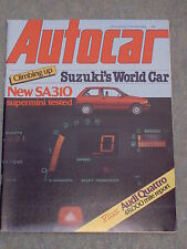 Autocar (17 March 1984) Audi Quattro, Suzuki SA310, Lotus Elite, Lister Jaguars