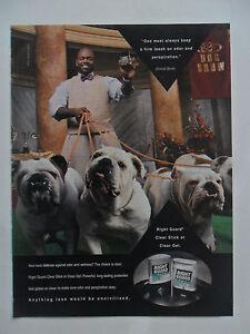 1998 Print Ad Right Guard Deodorant ~ Emmitt Smith NFL Dallas Cowboys Pitbulls