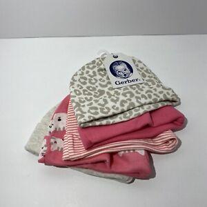 Gerber baby girls 5-pack Cap New
