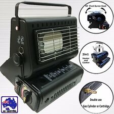 Portable Butane Heater Stove Cooker Dual Gas Supply Camping Portable OBBQ59805