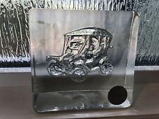 GOEBEL KRISTALLGLAS CRYSTAL GLASS PAPERWEIGHT RARE WEST GERMANY CLASSIC CAR FORD