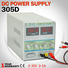 WEP Adjustable DC Power Supply Variable Dual Digital Display Lab Grade 0-30V0-5A