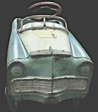 Working VTG 1956 MURRAY Country Squire pedal car Blue and White, to restore