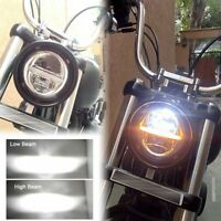 1pc 5-3/4 5.75 LED Headlight Halo DRL Motorcycle Headlamp Projector Turn Signals