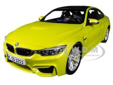 BMW M4 COUPE AUSTIN YELLOW W/ CARBON TOP 1/18 DIECAST MODEL CAR BY PARAGON 97103