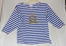 Vintage Insignia Adolfo Sport jersey, embellished crest, marine club