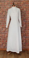 Genuine Vintage Wedding Dress Gown 60s Retro Victorian Edwardian Style UK 10/12