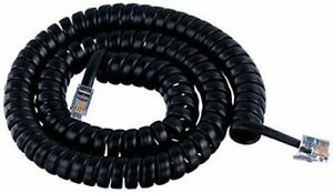NEC 12 FT DSX 1090020 1090021 1090034 Phone Handset Curly Coil Cord Black NEW