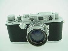 Nicca Rangefinder MIOJ camera w/ 5cm f/2 Nikkor H.C. Collapsible Tokyo Lens-RARE