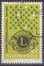 Norfolk 1967 fine used Mi.93 Lions International [sq6325]