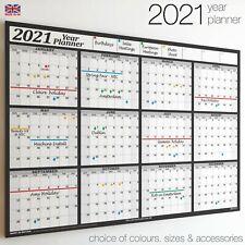 Wall Chart Calendar ✔2020✔2021✔2022 Year Planner 12 month✔Holidays✔Staff✔Office