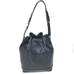 100% authentic Louis Vuitton Epi Noe Noir Shoulder bag M59012 [Used] {04-0327}