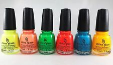 China Glaze 6pcs Poolside Collection + Free Shipping
