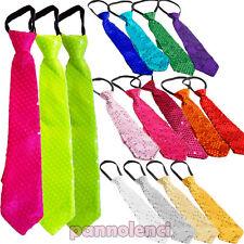 Krawatte Pailletten Tie Sequin Karneval Tanz Fest Reißverschluss Unisex TI-01