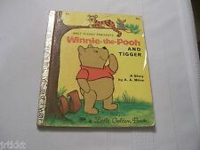 WALT DISNEY LITTLE GOLDEN BOOK WINNIE THE POOH AND TIGGER A A Milne 1971 HB