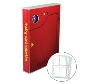 Pokemon Themed Mini Album w/ 25 4 Pocket Pages, Holds up to 200 Pokemon Cards