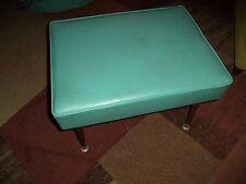 Vintage Viko Furniture Mid Century Modern Turquoise Adjustable Footstool Stool