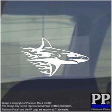 Llama De Tiburón-Pegatina De Vinilo-Ventana de Coche Gráfico Calcomanía signo animal, nadar, pescado, Reef