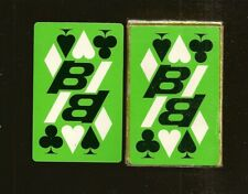 1960's Green Deck Braniff International Airlines Playing Cards