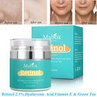 Retinol 2.5% Face Cream Serum Skin Anti Aging Wrinkles Hyaluronic Acid Vitamin E