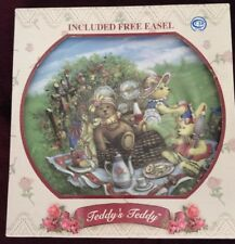 Teddy'S Teddy Collector Plate Teddy'S Picnic Lunch Easel Included