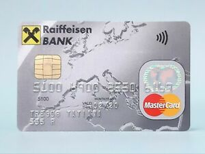 Raiffeisen BANK MasterCard charge card for collectible